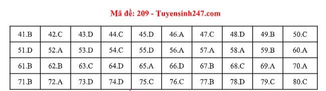 Đáp án môn Hóa học tất cả các mã đề THPT quốc gia 2019 chuẩn nhất, chính xác nhất (cập nhật) - Ảnh 9