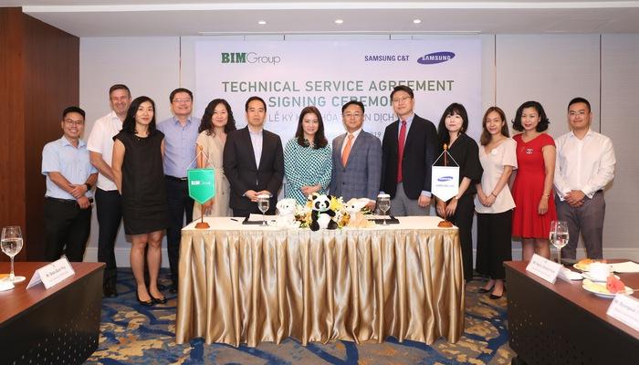 BIM Group ký thỏa thuận dịch vụ kỹ thuật với Samsung C&T - Ảnh 1