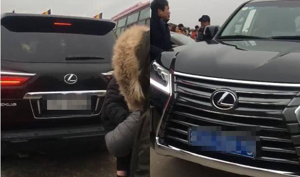 Cục CSGT lên tiếng vụ xe Lexus đầu biển xanh, đuôi biển trắng tại chùa Tam Chúc - Ảnh 1