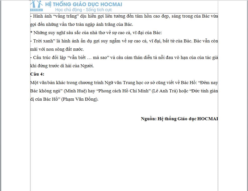 Đáp án gợi ý Ngữ Văn vào lớp 10 tại Hà Nội chuẩn nhất, nhanh nhất - Ảnh 3