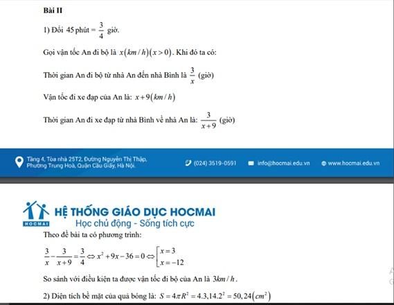 Đáp án, đề thi môn Toán vào lớp 10 tại Hà Nội chuẩn nhất, chi tiết nhất - Ảnh 2