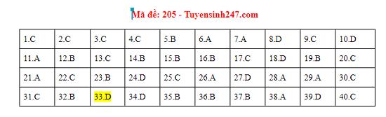 Gợi ý đáp án môn Vật lý mã đề 204-205-206 tốt nghiệp THPT 2020 - Ảnh 2