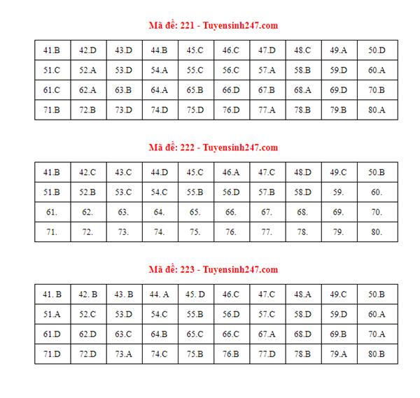 Gợi ý đáp án môn Hóa học mã đề 222-223-224 tốt nghiệp THPT 2020 chính xác nhất - Ảnh 2