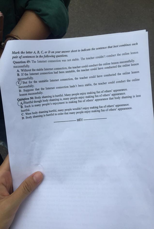 Đáp án, đề thi môn tiếng Anh mã đề 408 tốt nghiệp THPT 2020 chuẩn nhất, chính xác nhất - Ảnh 6