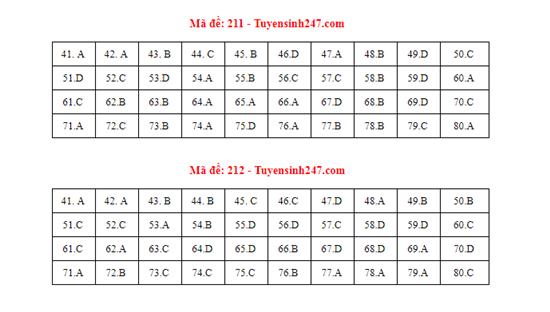 Gợi ý đáp án môn Hóa học mã đề 210-211-212 tốt nghiệp THPT 2020 chính xác nhất - Ảnh 1