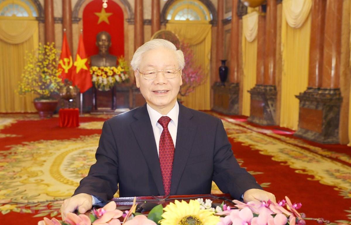 Tổng Bí thư, Chủ tịch nước chúc Xuân mới khí thế mới, thắng lợi mới - Ảnh 1