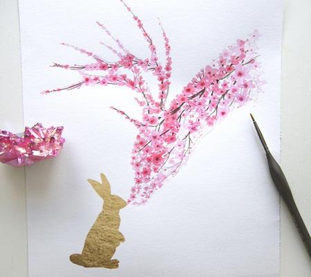 Chiêm ngưỡng bộ tranh động vật lấy ý tưởng từ ... hoa anh đào - Ảnh 4