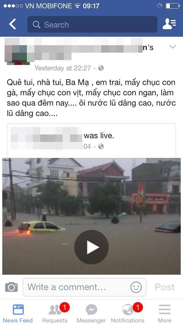 Dân mạng xót thương cư dân miền Trung oằn mình trong lũ lụt - Ảnh 6