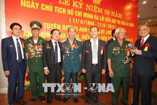 Lễ kỷ niệm 70 năm Ngày Chủ tịch Hồ Chí Minh ra Lời kêu gọi thi đua ái quốc - Ảnh 6