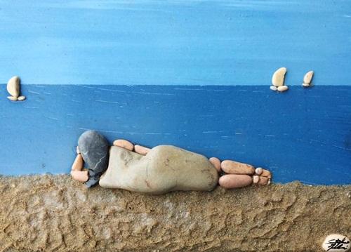 Chiêm ngưỡng những tác phẩm được chế tác từ …sỏi đá - Ảnh 2