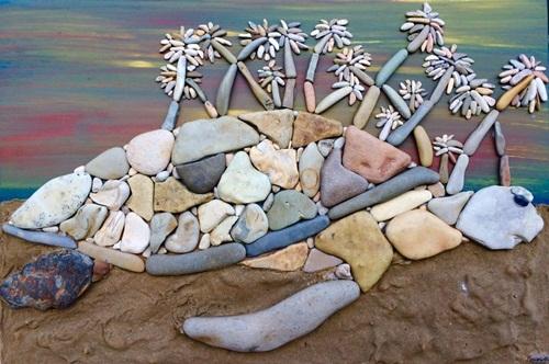 Chiêm ngưỡng những tác phẩm được chế tác từ …sỏi đá - Ảnh 3