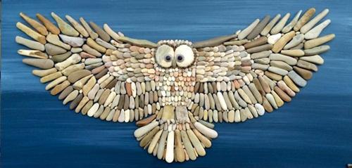 Chiêm ngưỡng những tác phẩm được chế tác từ …sỏi đá - Ảnh 1