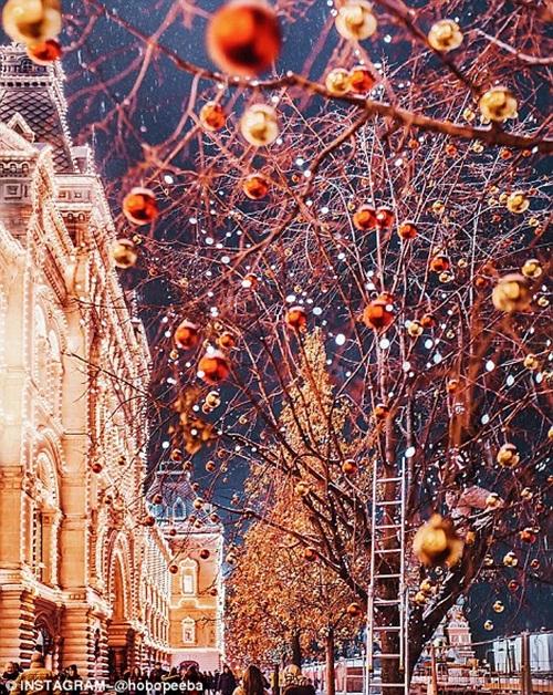 Mê mẩn cảnh tuyết rơi trắng xóa ở Nga - Ảnh 11