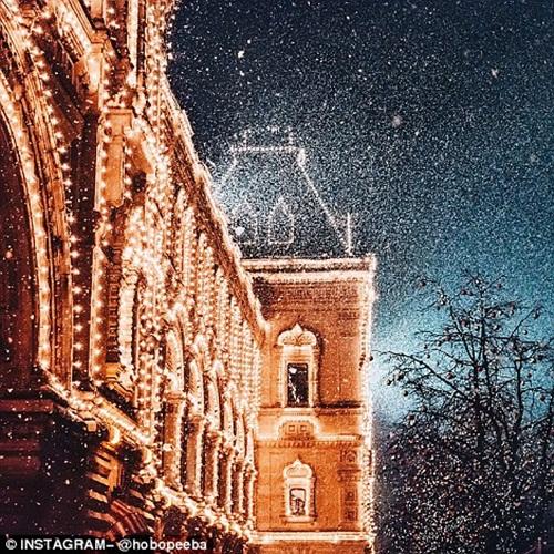 Mê mẩn cảnh tuyết rơi trắng xóa ở Nga - Ảnh 15
