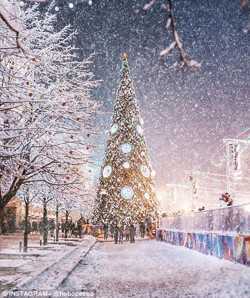 Mê mẩn cảnh tuyết rơi trắng xóa ở Nga - Ảnh 6