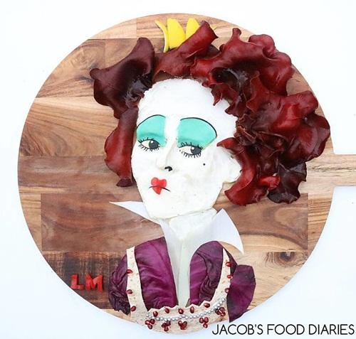 Ngắm những tác phẩm nghệ thuật được sáng chế từ… thức ăn - Ảnh 6