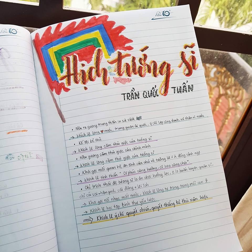 Cuốn vở soạn bài môn Văn của nữ sinh lớp 8 gây ấn tượng mạnh - Ảnh 2