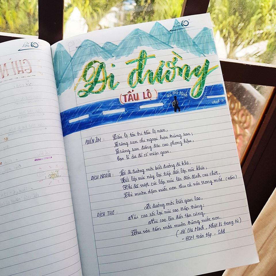 Cuốn vở soạn bài môn Văn của nữ sinh lớp 8 gây ấn tượng mạnh - Ảnh 4