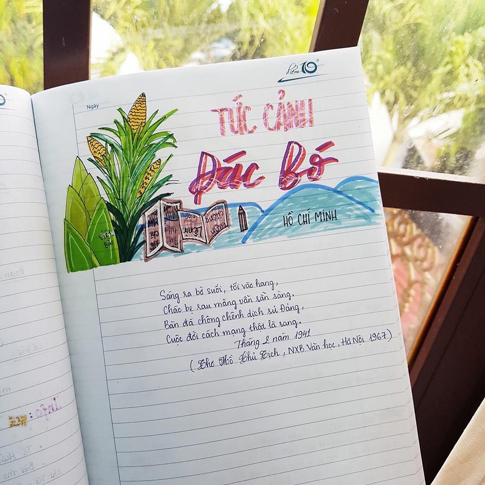 Cuốn vở soạn bài môn Văn của nữ sinh lớp 8 gây ấn tượng mạnh - Ảnh 6