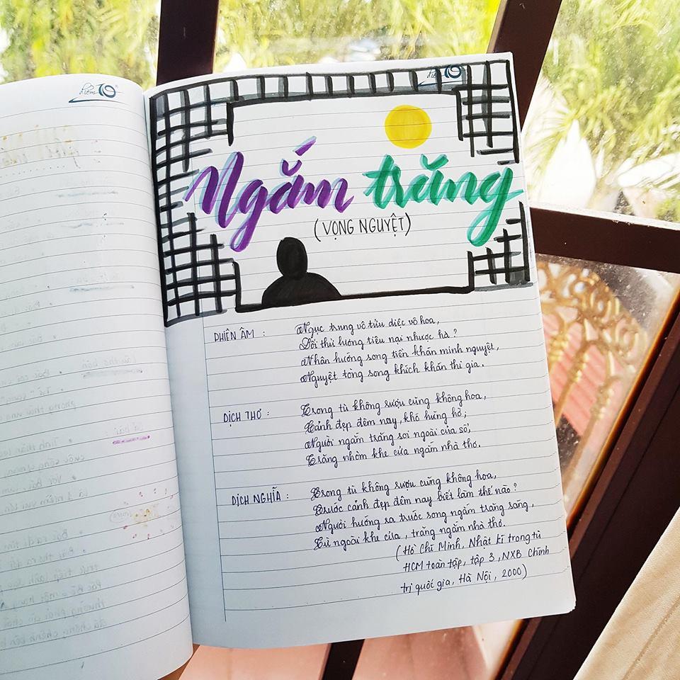 Cuốn vở soạn bài môn Văn của nữ sinh lớp 8 gây ấn tượng mạnh - Ảnh 7
