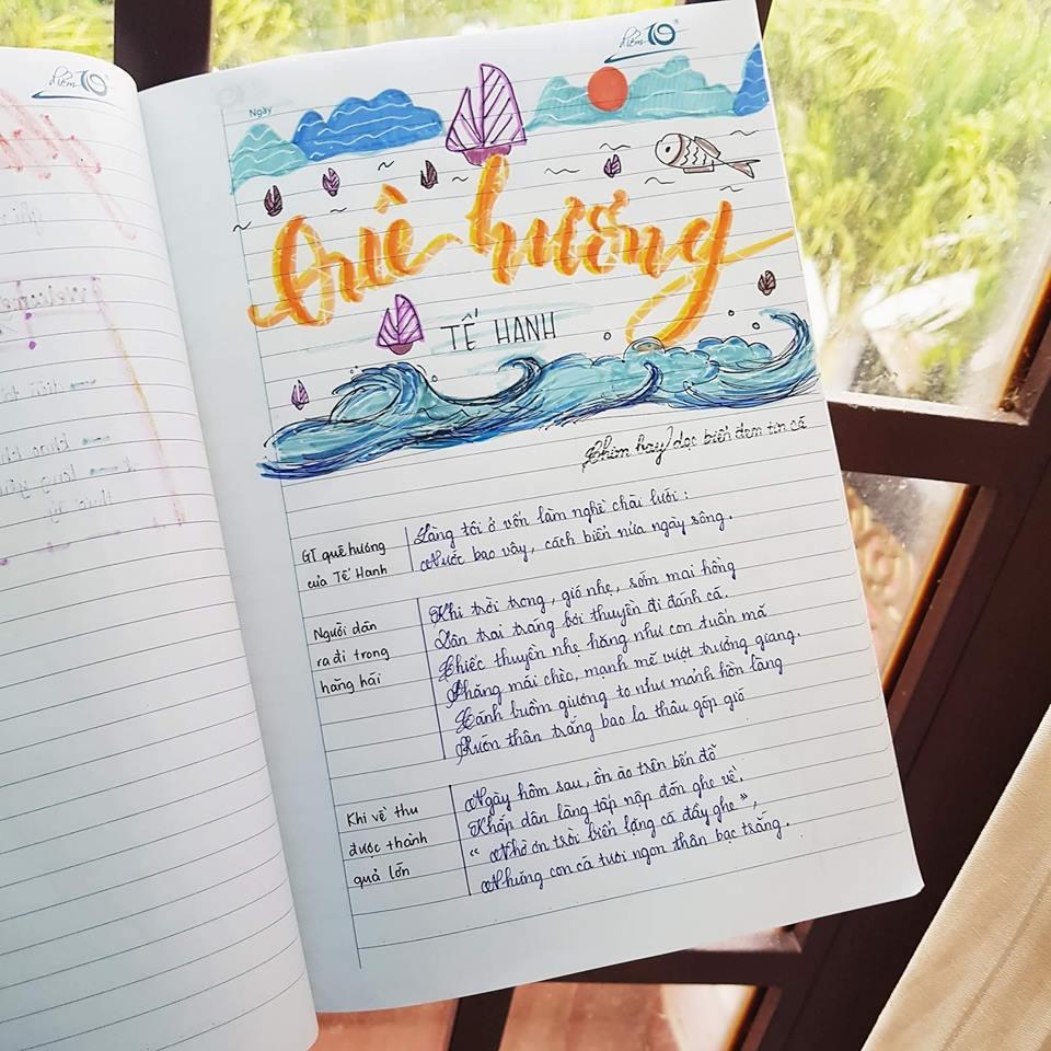 Cuốn vở soạn bài môn Văn của nữ sinh lớp 8 gây ấn tượng mạnh - Ảnh 8