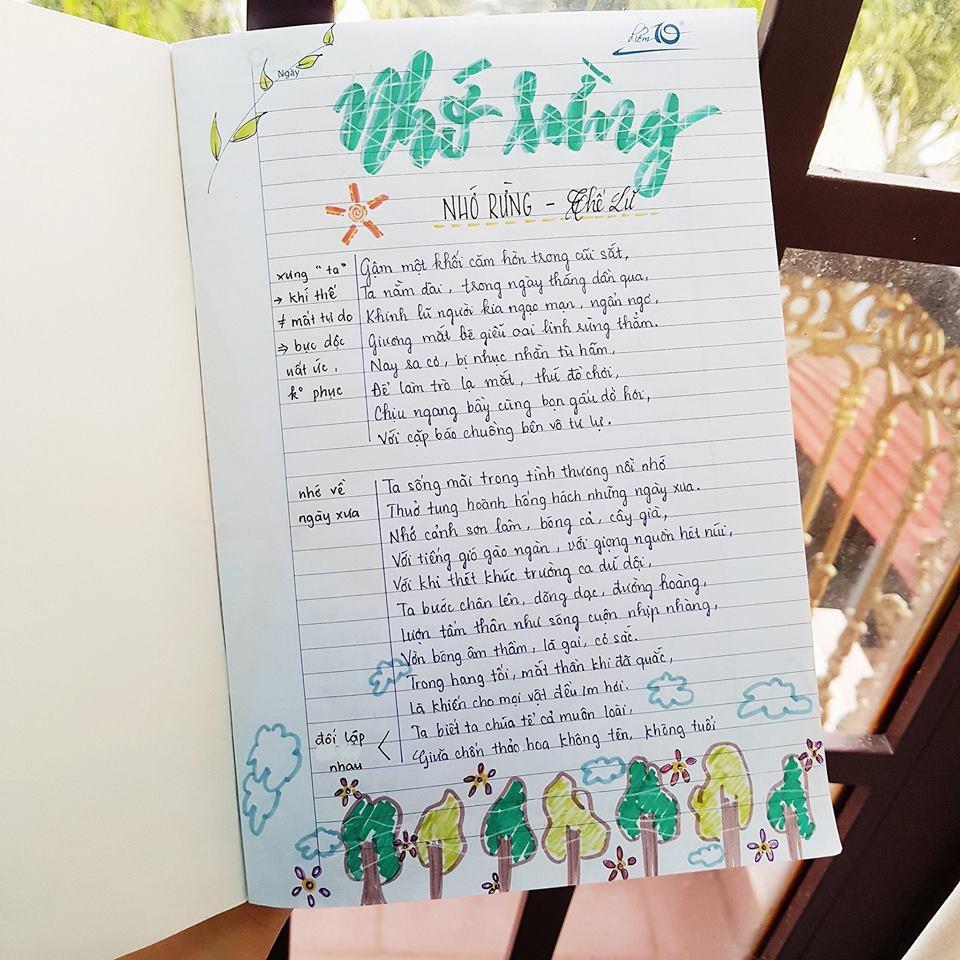 Cuốn vở soạn bài môn Văn của nữ sinh lớp 8 gây ấn tượng mạnh - Ảnh 9