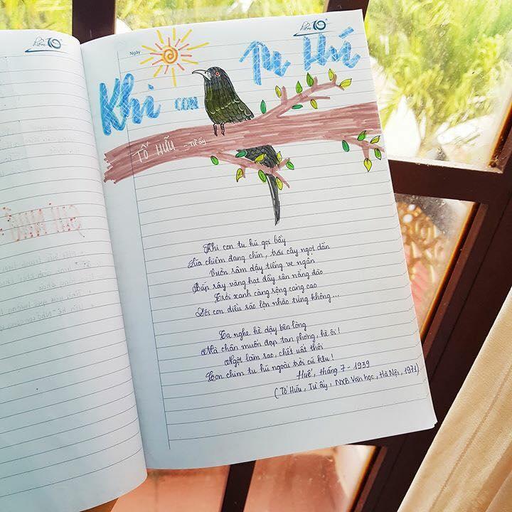 Cuốn vở soạn bài môn Văn của nữ sinh lớp 8 gây ấn tượng mạnh - Ảnh 10