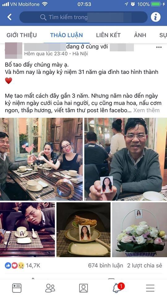 Người đàn ông kỷ niệm 31 năm ngày cưới với vợ đã khuất khiến dân mạng tin 'tình yêu vĩnh cửu' là có thật - Ảnh 1
