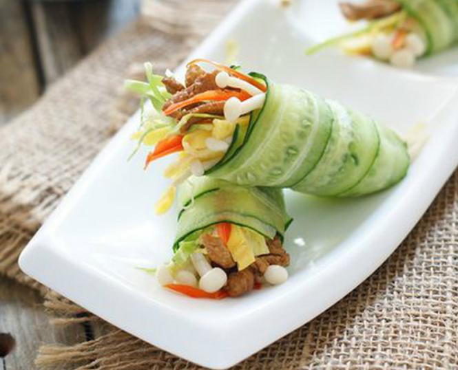 Món ngon bữa tối: Dưa chuột cuộn rau củ tránh ngán cho bữa cơm hè - Ảnh 3