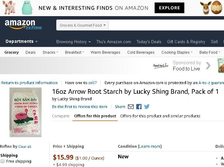 Amazon bán bột sắn dây Made in Viet Nam giá gần 1 triệu/kg - Ảnh 1