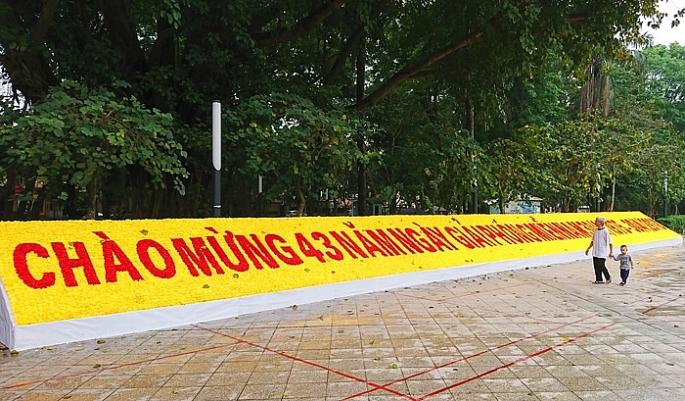 Hà Nội rực rỡ cờ hoa mừng ngày thống nhất đất nước - Ảnh 1