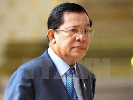 Thủ tướng Vương quốc Campuchia Hun Sen bắt đầu thăm chính thức Việt Nam - Ảnh 1