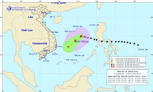Tin mới nhất về cơn bão số 10 và công tác ứng phó - Ảnh 1