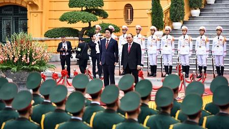 Lễ đón trọng thể Thủ tướng Nhật Bản Shinzo Abe tại Phủ Chủ tịch - Ảnh 5