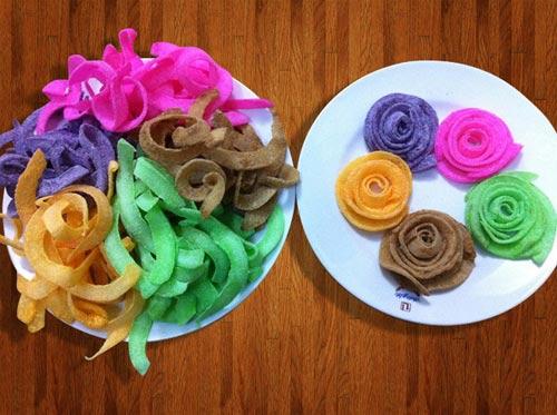 Hấp dẫn với cách làm mứt dừa hoa hồng ngũ sắc đón xuân - Ảnh 4