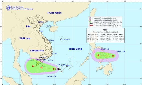 Lại xuất hiện áp thấp nhiệt đới gần Biển Đông - Ảnh 1