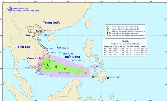 Áp thấp nhiệt đới có khả năng mạnh thành bão, di chuyển nhanh vào Biển Đông - Ảnh 1