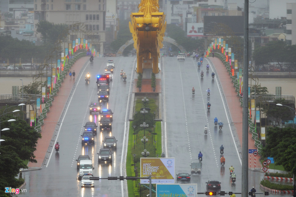 Cận cảnh dàn siêu xe của Tổng thống Trump ở Đà Nẵng - Ảnh 7