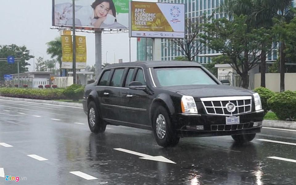 Cận cảnh dàn siêu xe của Tổng thống Trump ở Đà Nẵng - Ảnh 4