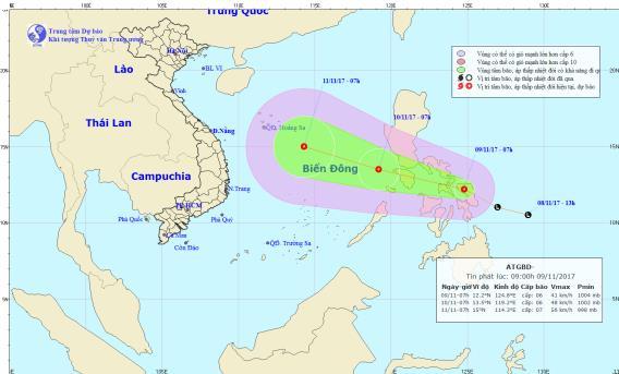 Áp thấp nhiệt đới có khả năng mạnh thành bão hướng về Biển Đông - Ảnh 1
