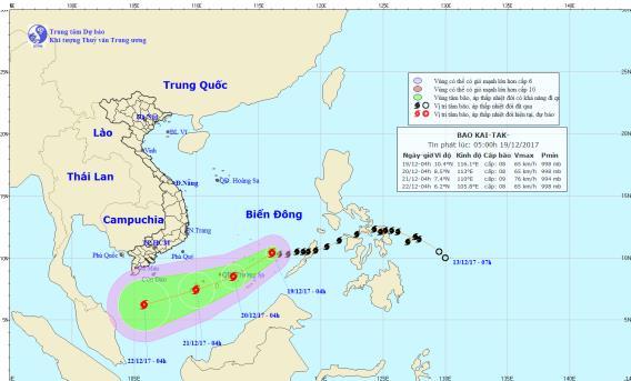 Dự báo thời tiết 19/12: Bão Kai-tak quần thảo Biển Đông, ba miền đều lạnh - Ảnh 1