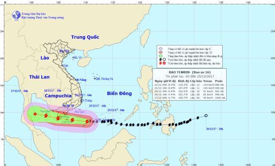 Tin mới nhất cơn bão số 16 giật cấp 15 - Ảnh 1