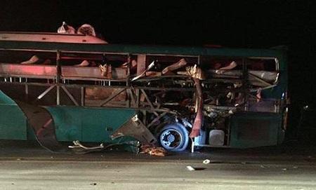 Hiện trường vụ nổ xe khách khiến 2 người chết, 12 bị thương ở Bắc Ninh - Ảnh 1