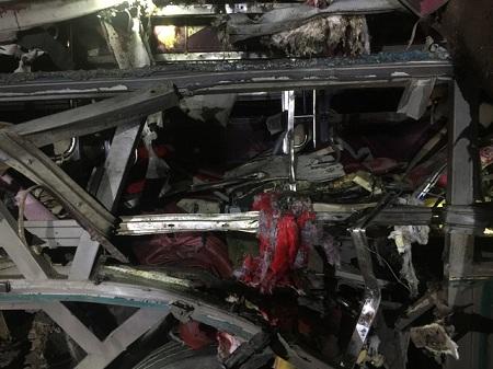 Hiện trường vụ nổ xe khách khiến 2 người chết, 12 bị thương ở Bắc Ninh - Ảnh 9