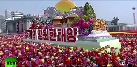 Cận cảnh buổi diễu binh lớn nhất lịch sử Triều Tiên - Ảnh 9