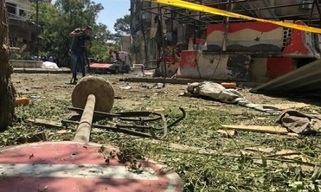 Đại sứ quán Nga tại Syria trúng pháo kích - Ảnh 1