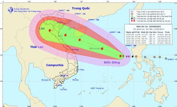 Tin tức mới nhất cơn bão số 10 giật cấp 11 đang tiến vào Hoàng Sa - Ảnh 1