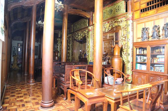 Choáng trước căn nhà 80m3 gỗ quý của Chi cục trưởng kiểm lâm Quảng Trị - Ảnh 5
