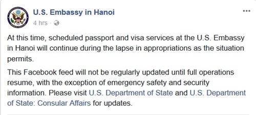 Đại sứ quán Mỹ tại Hà Nội vẫn cấp visa - Ảnh 1