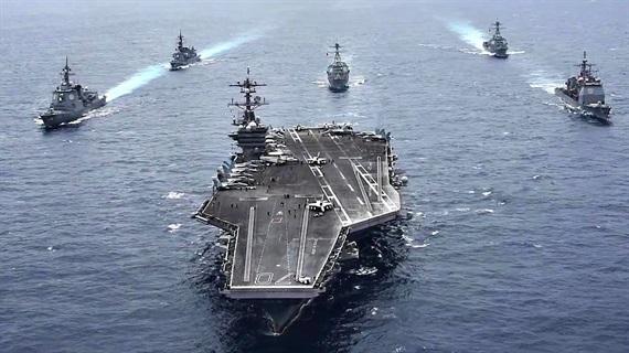 Tàu sân bay Mỹ đến gần bán đảo Triều Tiên - Ảnh 1